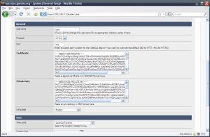 Configuration settings for your WebGUI